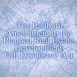 Radburn Amendment